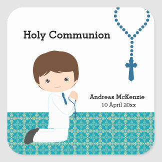Holy Communion Square Stickers