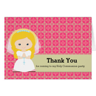 Holy Communion Thank you Card