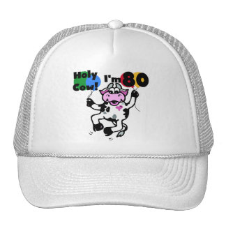 Holy Cow I m 80 Tshirts and Gifts Hat