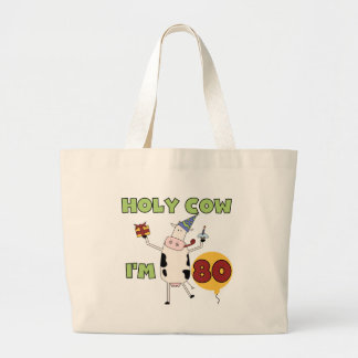 Holy Cow I'm 80 Birthday T-shirts and Gifts Bag