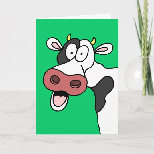 Holy Cow Youre 70 Funny 70th Birthday Card Zazzle