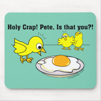 Holy Crap! Pete Humor Mouse Pad