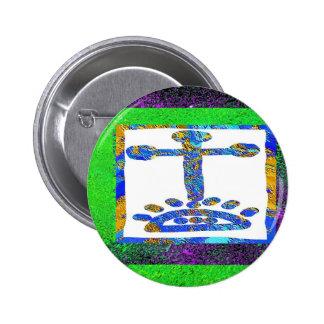 Holy Cross - Love you Jesus Pinback Button