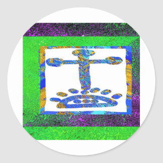 Holy Cross - Love you Jesus Stickers