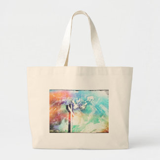 Holy Cross Pastel Distressed Large Tote Bag