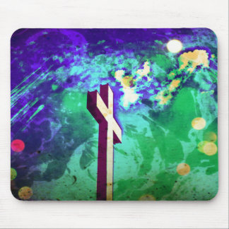 Holy Cross Purple Earth Sparkle Mousepad