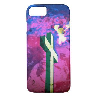 Holy Cross Raspberry/Blue Velvet iPhone 7 case