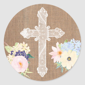 Holy Cross stickers for envelope seals for Baptism