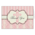 Holy Cross Vintage Pink Damask Thank You Card