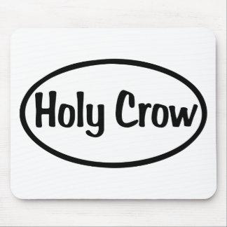 Holy Crow Oval Mousepad