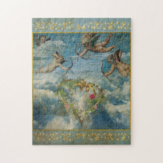 Holy Cupid Religious Angel Heart Christmas Puzzle