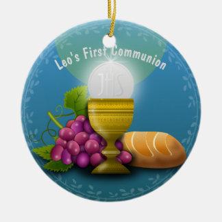 Holy Eucharist Gifts Add Name Godchild Communion Christmas Ornament