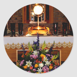 Holy Eucharist / The Blessed Sacrament Classic Round Sticker