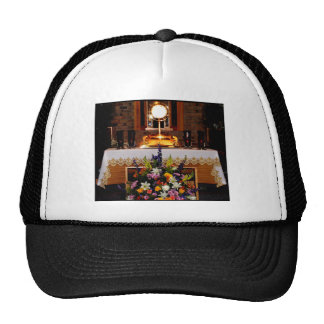 Holy Eucharist The Blessed Sacrament Trucker Hats