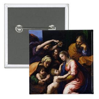 Holy Family , 1518 15 Cm Square Badge