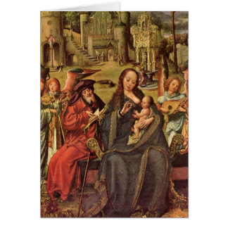 Holy Family By Jan Mabuse Card