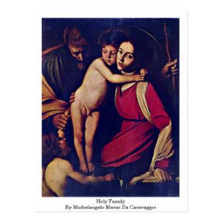 Holy Family By Michelangelo Merisi Da Caravaggio Postcard