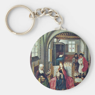 Holy Family In The Room With Anna And Joachim By N Key Chains