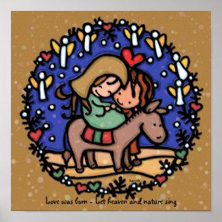 Holy Family Mary Joseph Jesus Bethlehem Night Poster