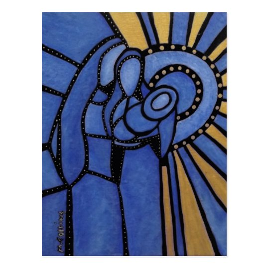Holy Family Modern Abstract Nativity Postcard
