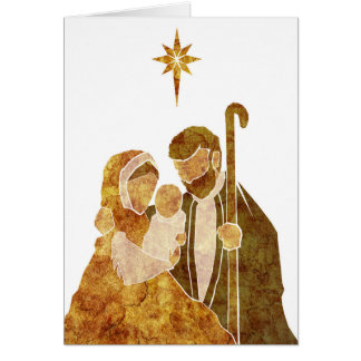Holy Family Nativity Christmas Card