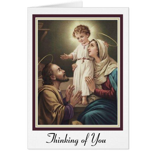 Holy Family St. Joseph, Mary, Jesus Card
