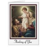 Holy Family St. Joseph, Mary, Jesus Greeting Card