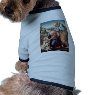 Holy Family With A Lamb By Raffael (Best Quality) Ringer Dog Shirt