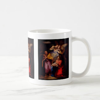Holy Family with Angels by Coypel Basic White Mug