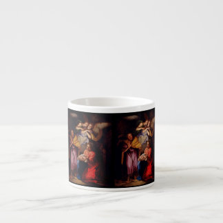 Holy Family with Angels by Coypel Espresso Cups