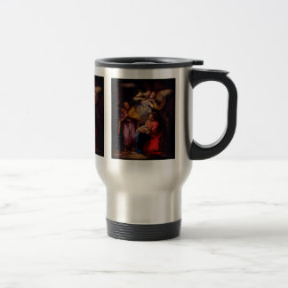 Holy Family with Angels by Coypel Stainless Steel Travel Mug