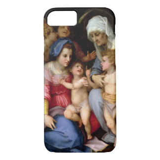 Holy Family with Angels, c.1515-16 (oil on panel) iPhone 8/7 Case