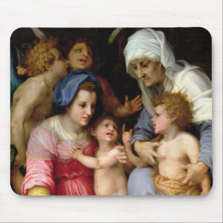Holy Family with Angels, c.1515-16 (oil on panel) Mouse Pad