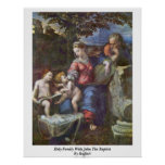Holy Family With John The Baptist By Raffael Print