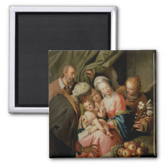 Holy Family with St. Anne Square Magnet