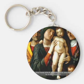 Holy Family With St. Elizabeth And St. John Boys Key Chains