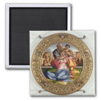 Holy Family with St. John (Doni Tondo), 1504-05 (o Square Magnet