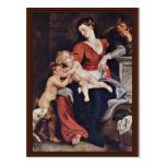 Holy Family With The Basket By Rubens Peter Paul Postcards
