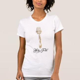 Holy Fork Gold Cutlery Tshirt