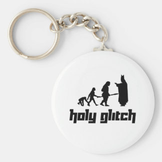 Holy Glitch Basic Round Button Key Ring