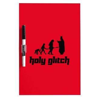 Holy Glitch Dry Erase Board