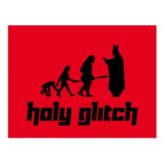Holy Glitch Postcard