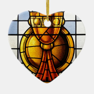 Holy Grail Stained Glass - Sacrament Christmas Ornament