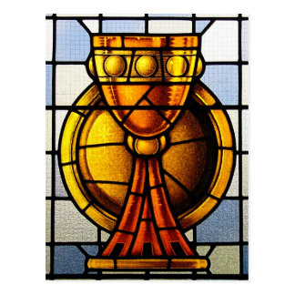 Holy Grail Stained Glass - Sacrament Postcard
