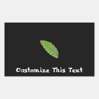 Holy Green Leaf; Customisable Rectangular Sticker