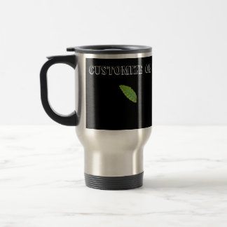 Holy Green Leaf; Customizable Stainless Steel Travel Mug