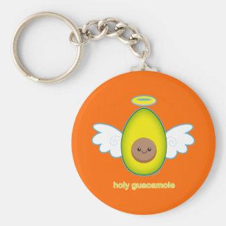 Holy Guacamole! Basic Round Button Key Ring