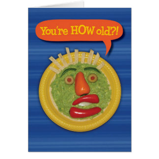 Holy Guacamole! Funny Guacamole Face Birthday Card