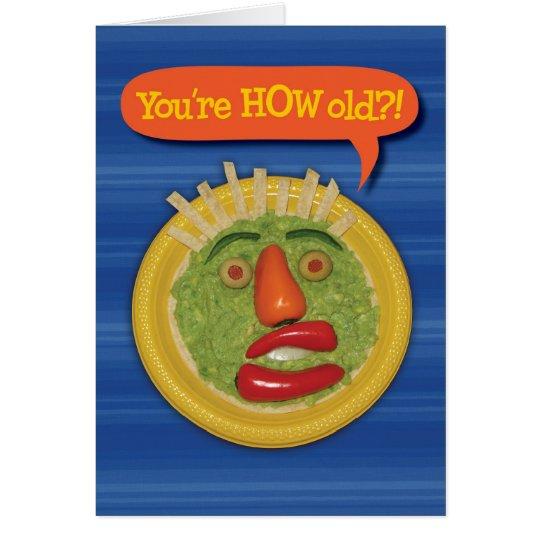Holy Guacamole! Funny Guacamole Face Birthday Card