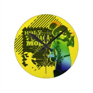 Holy Guacamole Round Clock